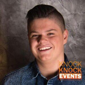 Justen de Wildt sluit goede deal met Knock Knock Events