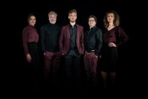 Lars Mak, Zoï Duister, Richard Spijkers en Joost Claes maken de cast van Hugo de Groot, de musical compleet.
