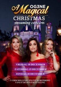 OG3NE komt met drie verschillende online streaming kerstconcerten vanuit de Winter Efteling