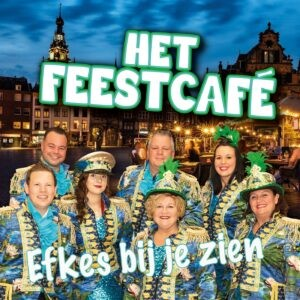 Carnavalstoppers van Het Feestcafé zingen het troostlied 'Efkes bij je zien'