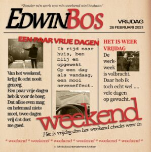 Vrolijke nieuwe single voor Edwin Bos