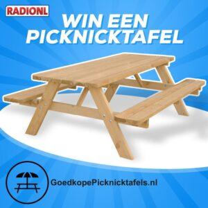 Win deze week een picknicktafel bij RADIONL