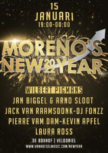 Entreekaarten voor Moreno's New Year 2022 vanaf heden verkrijgbaar